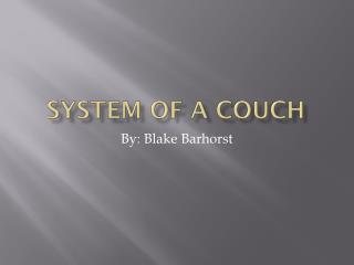 System Of A Couch
