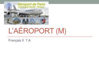 L'aéroport  (m)
