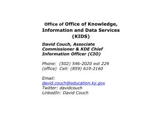 Office of  Office of Knowledge, Information and Data Services (KIDS)