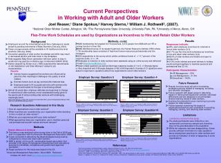 Current Perspectives in Working with Adult and Older Workers