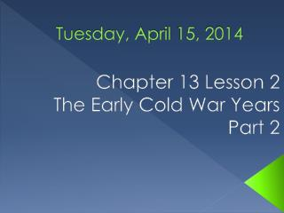 Tuesday, April 15, 2014