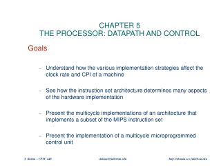 CHAPTER 5 THE PROCESSOR: DATAPATH AND CONTROL