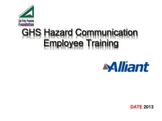 GHS Hazard Communication  Employee Training