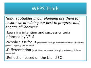 WEPS Triads