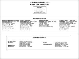 ORGANIGRAMME  2014 CNRS USR 2936 SEEM