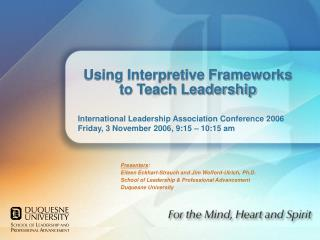 Using Interpretive Frameworks to Teach Leadership