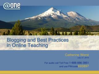 Blogging and Best Practices  in Online Teaching