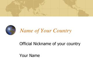 Name of Your Country