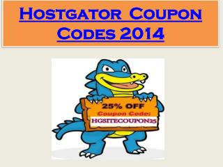 Hostgator Coupon Codes 2014