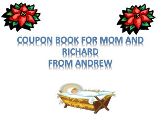 Cou pon book for mom and Richard From Andrew
