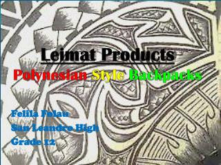 Leimat  Products Polynesian  Style Backpacks
