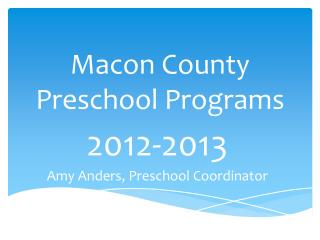 Macon County Preschool Programs