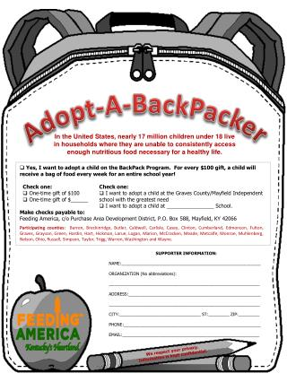 Adopt-A- BackPacker