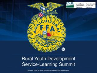 Rural Youth Development  Service-Learning Summit