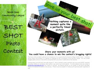 Birch Cove Community League BEST SHOT Photo  Contest