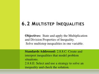 6.2 Multistep Inequalities