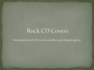 Rock CD Covers