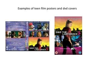 Examples of teen film posters and  dvd  covers