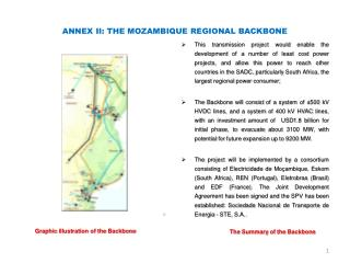 ANNEX II: THE MOZAMBIQUE REGIONAL BACKBONE