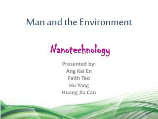 Man and the Environment