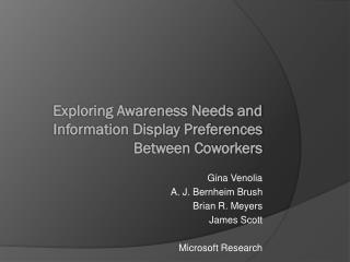 Exploring Awareness Needs and Information Display Preferences Between Coworkers