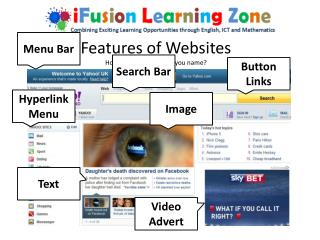 Features of Websites How many features can you name?