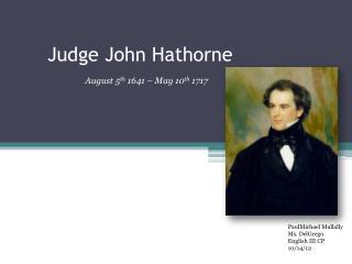 Judge John Hathorne