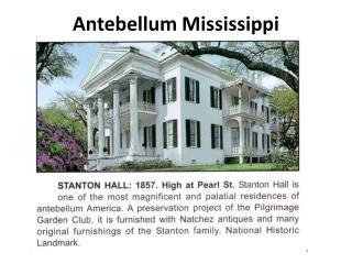 Antebellum Mississippi