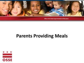 Parents Providing Meals
