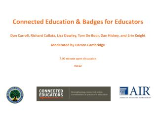 Connected Education & Badges for Educators