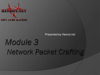 Module 3  Network Packet Crafting