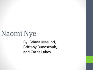 Naomi Nye