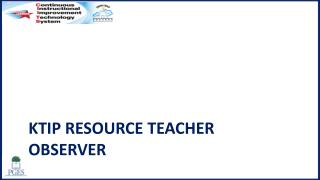 KTIP  Resource teacher observer