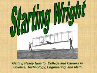 Starting Wright