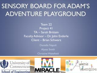 Sensory Board for Adam�s Adventure Playground