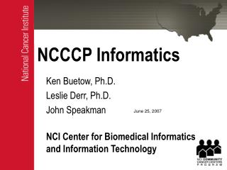 NCCCP Informatics