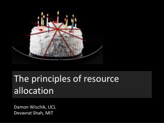 The principles of resource allocation