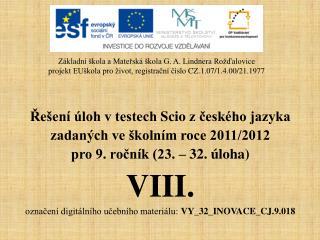 Řešení úloh v testech  Scio  z českého jazyka  zadaných ve školním roce 2011/2012