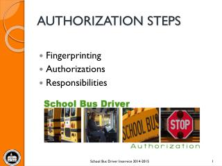 AUTHORIZATION STEPS