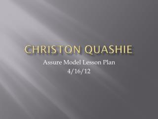 Christon Quashie