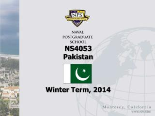 NS4053  Pakistan Winter  Term, 2014