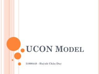 UCON Model