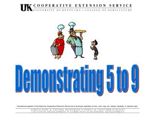Demonstrating 5 to 9