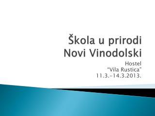 Škola u prirodi Novi Vinodolski