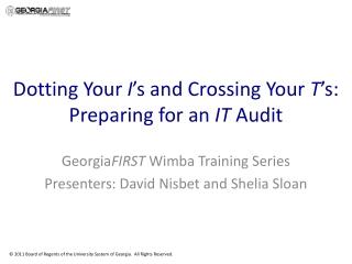 Wimba Training