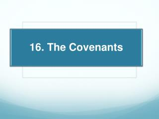 The  Individual  Covenant