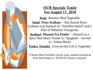 OUR Specials Tonite