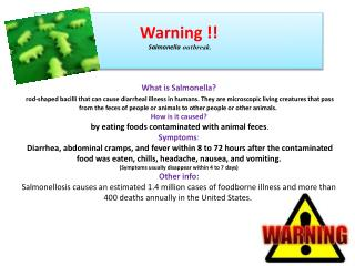 Warning !! Salmonella outbreak.