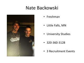 Nate  Backowski