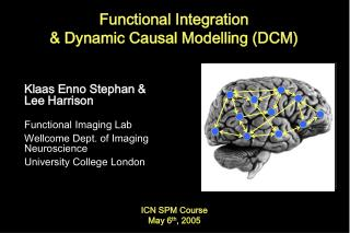 Functional Integration  Dynamic Causal Modelling DCM